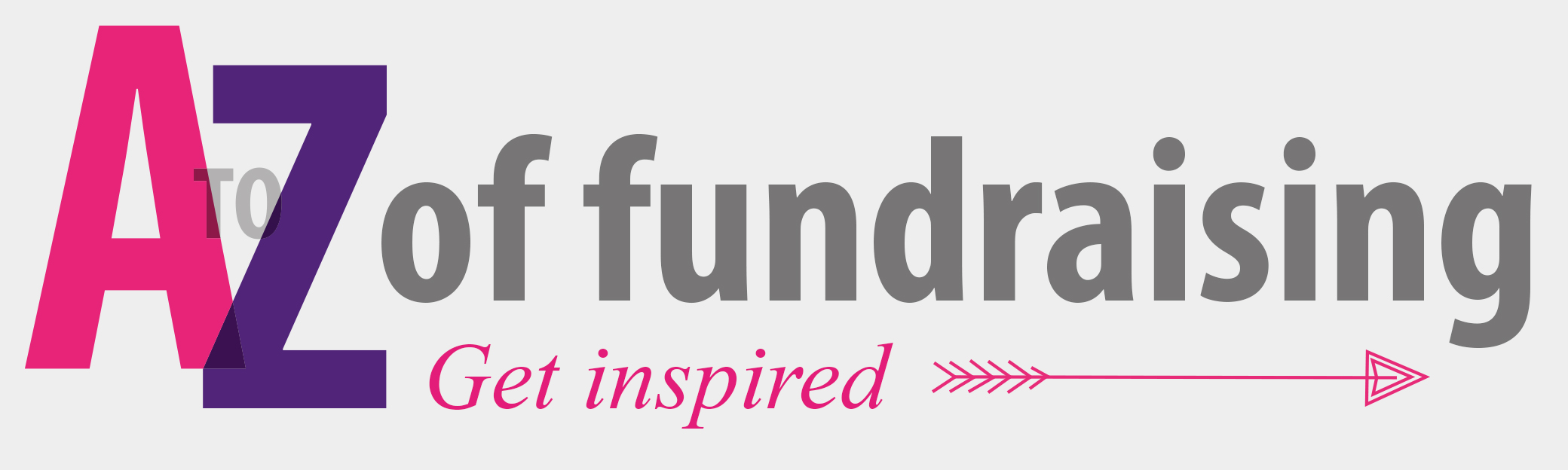 Graphic for the A to Z fundraising 'get inspired'.